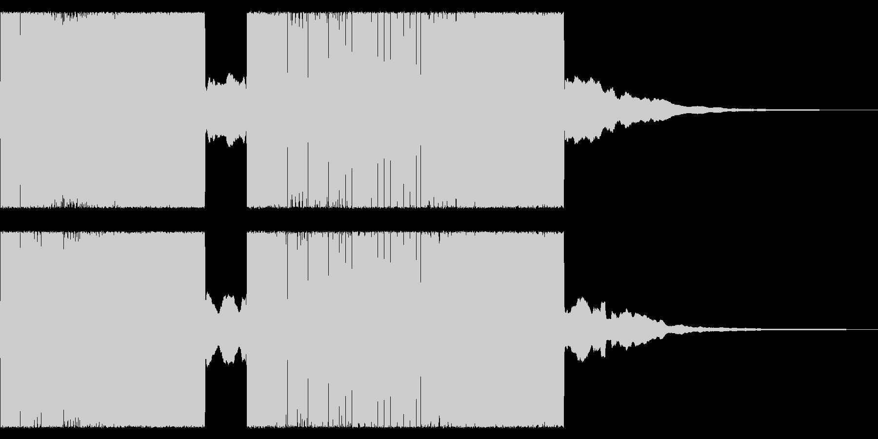 レトロ音なチャラリー トッカータとフーガの未再生の波形
