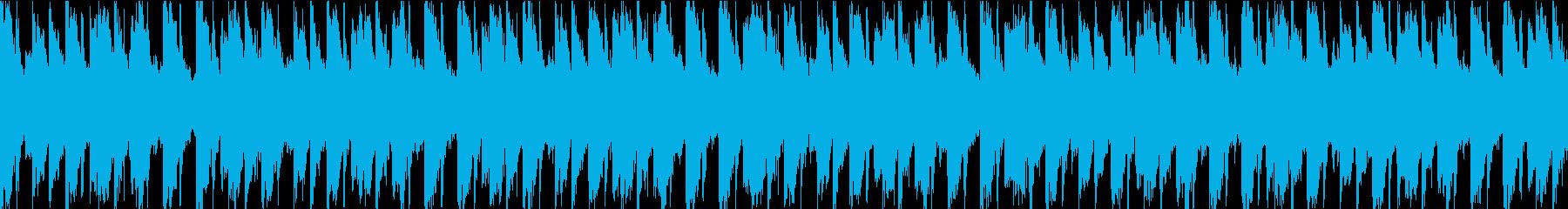 伝染性のシンセパターンとポジティブ...の再生済みの波形