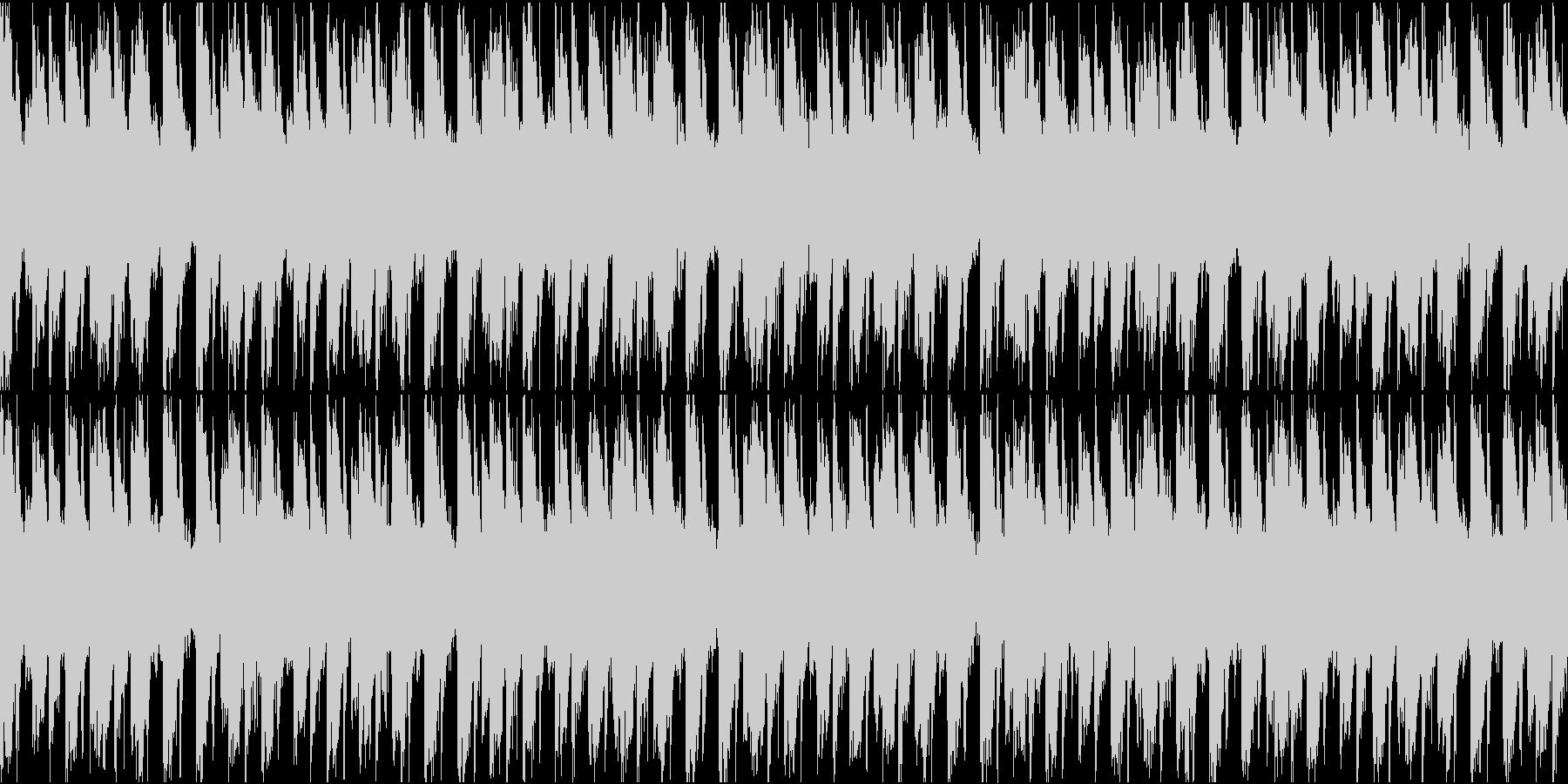伝染性のシンセパターンとポジティブ...の未再生の波形