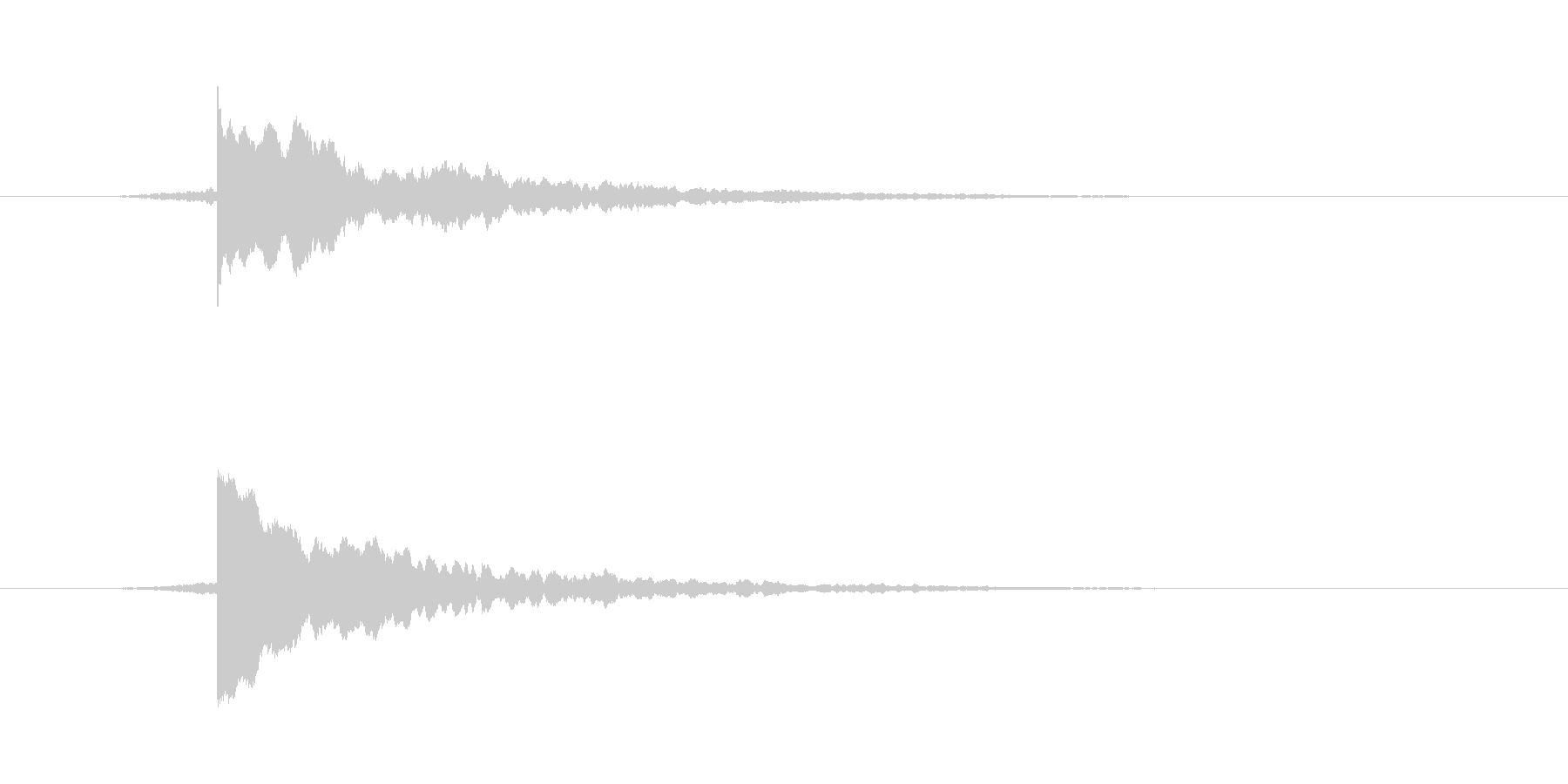 テロップSE チーン 使い易いシリーズの未再生の波形