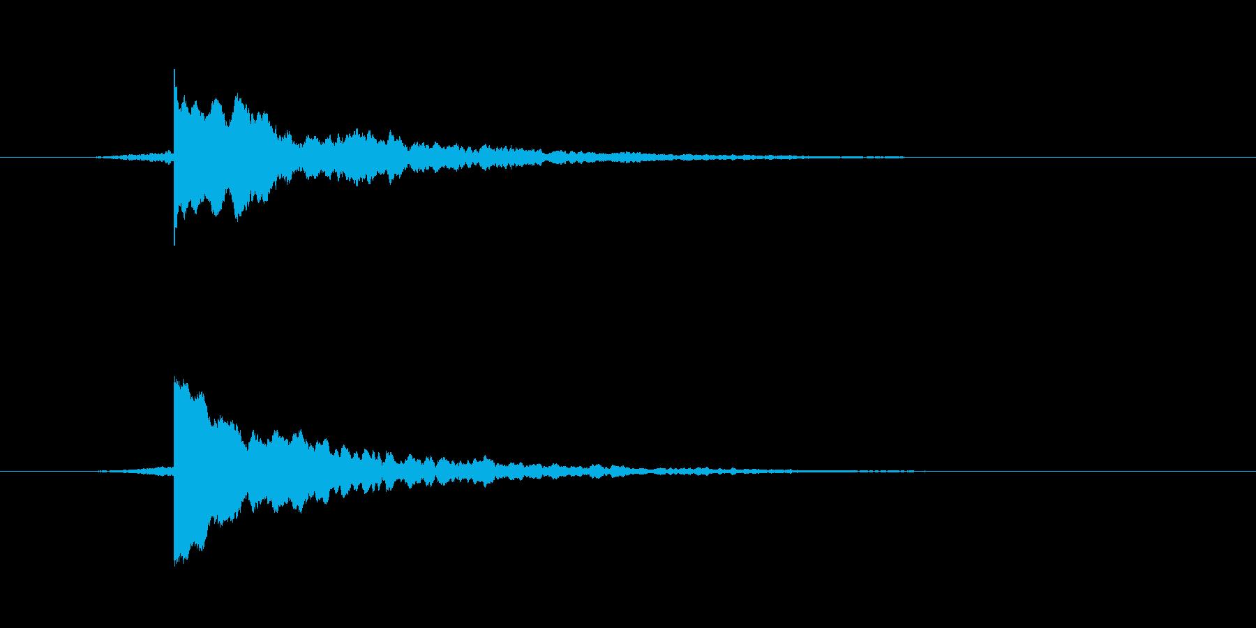 テロップSE チーン 使い易いシリーズの再生済みの波形