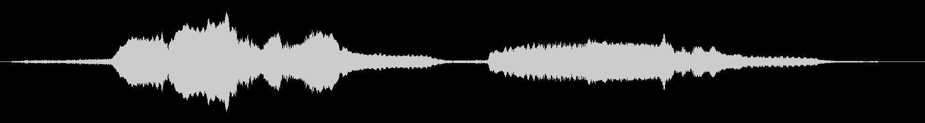 朗読・証言用のBGM 緩やかなバイオリンの未再生の波形