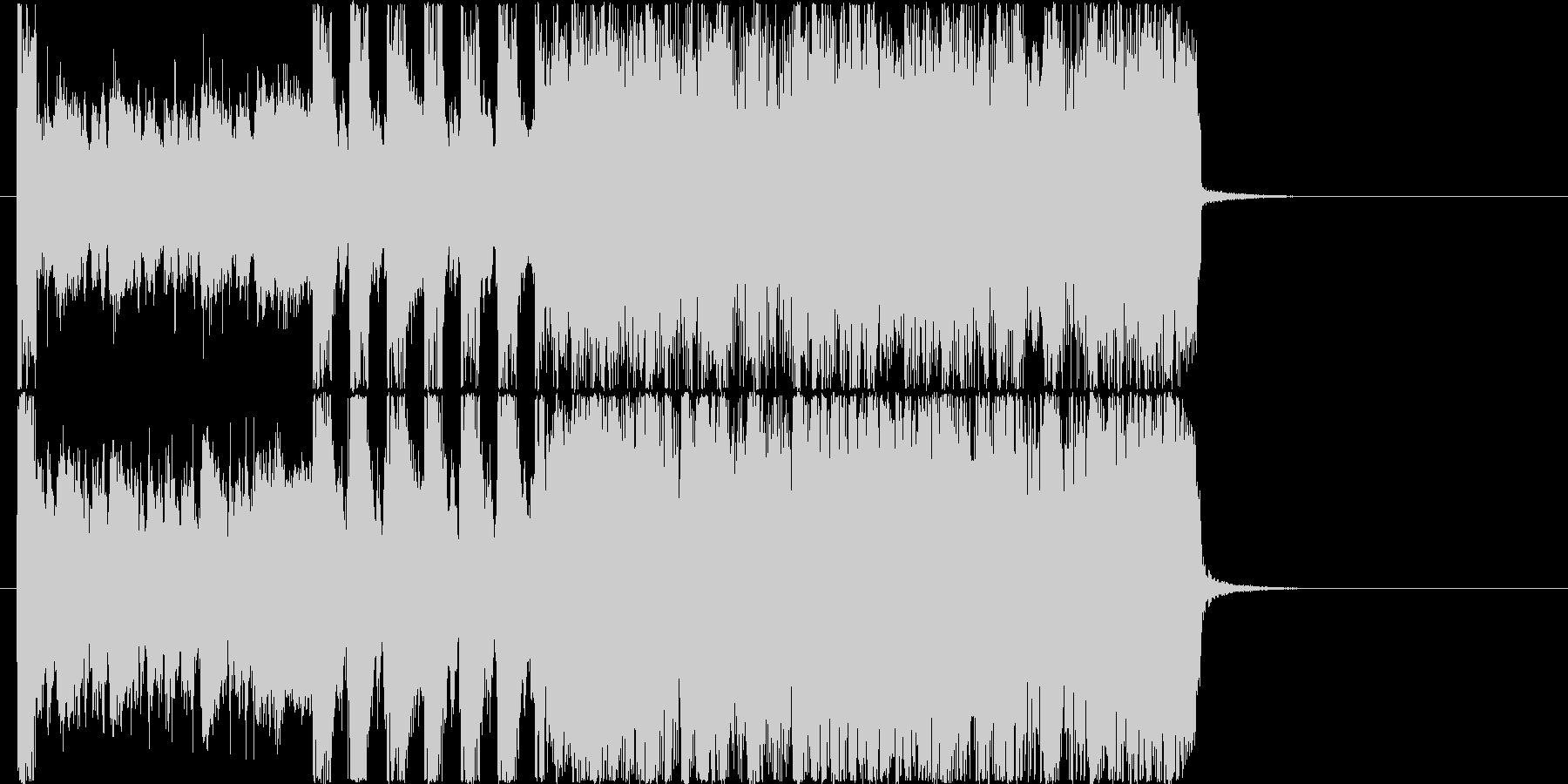 勢いあるハードロックなエレキジングルの未再生の波形
