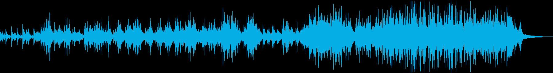 物悲しい物語向けのピアノソロの再生済みの波形