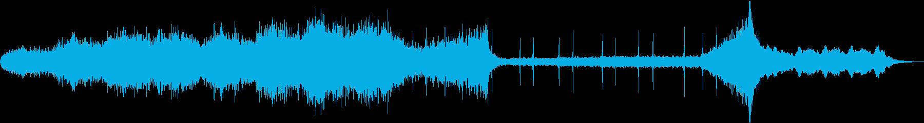 ストリングスの怖い雰囲気のBGMの再生済みの波形