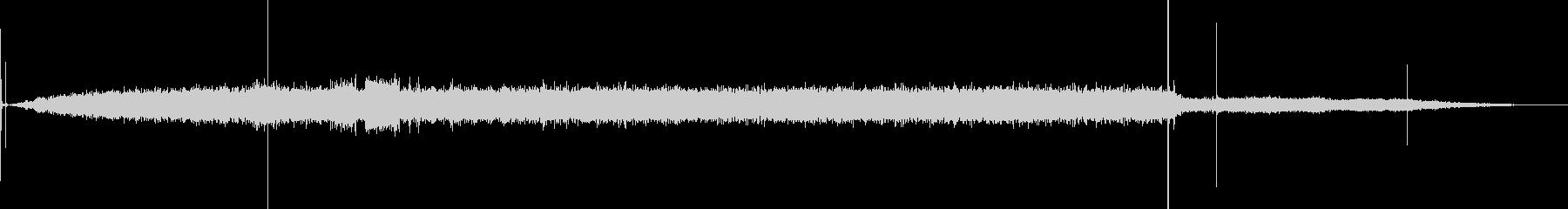 ハードディスク-電源オン-電源オフの未再生の波形