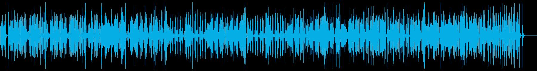 明るく愉快で楽しいラグタイム・ピアノの再生済みの波形