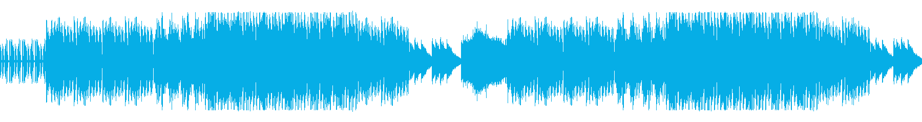 リズムのあるEDM風ループ曲の再生済みの波形