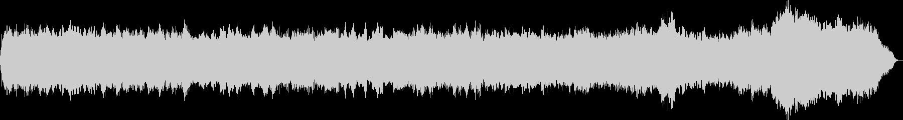 パイプオルガンのオリジナル教会音楽の未再生の波形