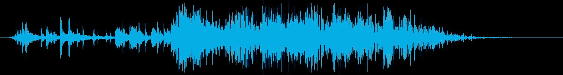 圧力スプリンターと崩壊の再生済みの波形