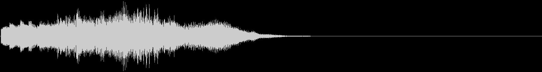 優しいチャイムお知らせタイトル ロゴ10の未再生の波形