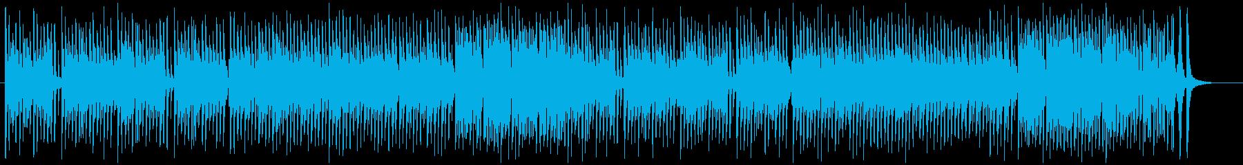 子犬がじゃれあっているような賑やかな曲の再生済みの波形