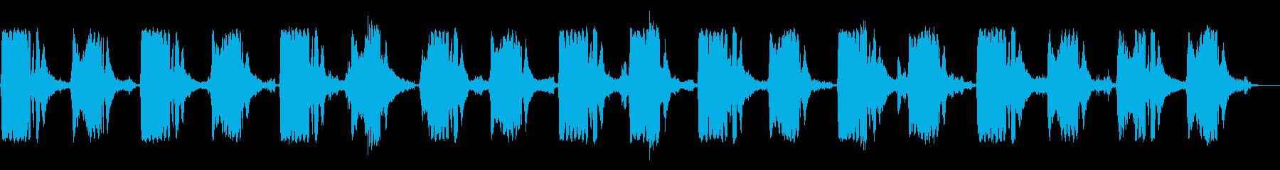 夜の森に鳴り響く不気味な森音描写の再生済みの波形