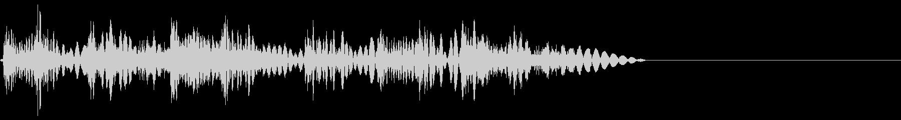 ボコボコビシバシビシッ(ラッシュ攻撃)の未再生の波形