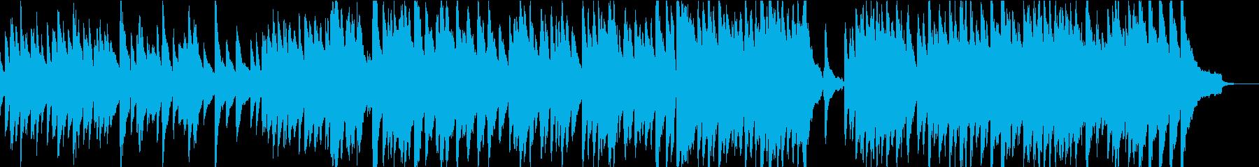 冬の温もりをイメージした曲の再生済みの波形