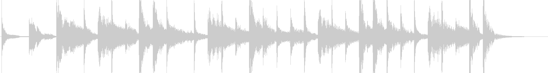 ラテンなジングル ♩=120の未再生の波形
