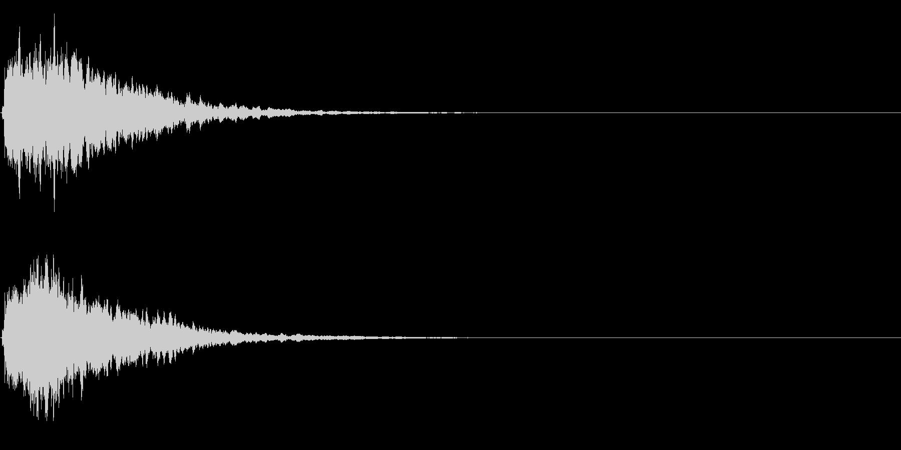 ゲームスタート、決定、ボタン音-087の未再生の波形
