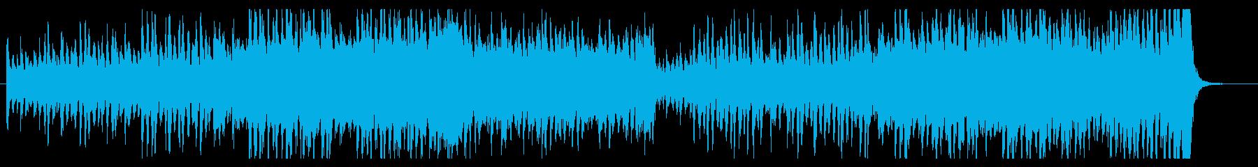 サスペンス追跡シーンの緊迫壮大BGMの再生済みの波形