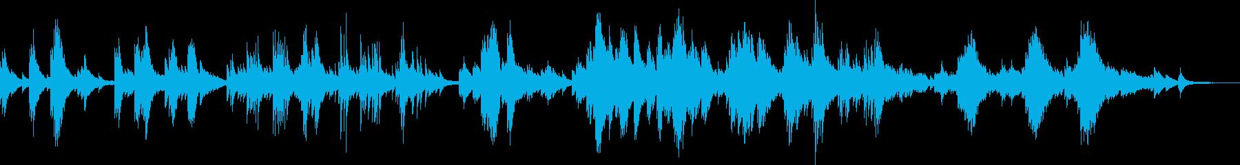 悲しいピアノBGM(生演奏・バラード)の再生済みの波形