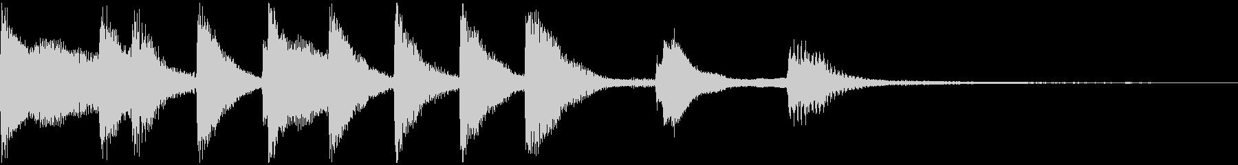 失敗・残念なイメージのピアノジングルの未再生の波形