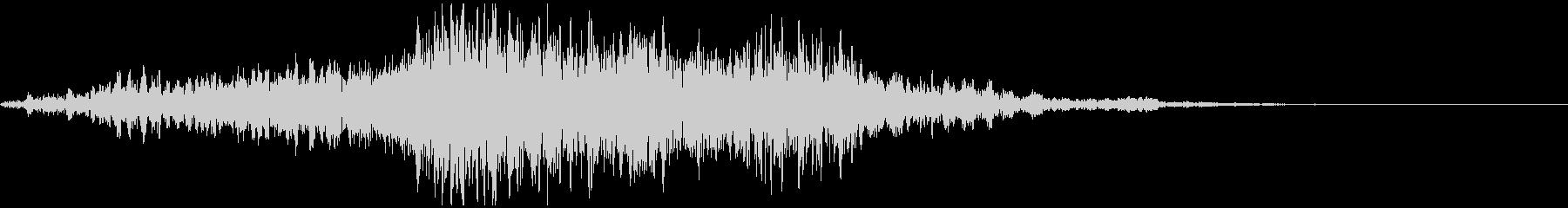 ぞわぞわするようなホラー的な効果音の未再生の波形