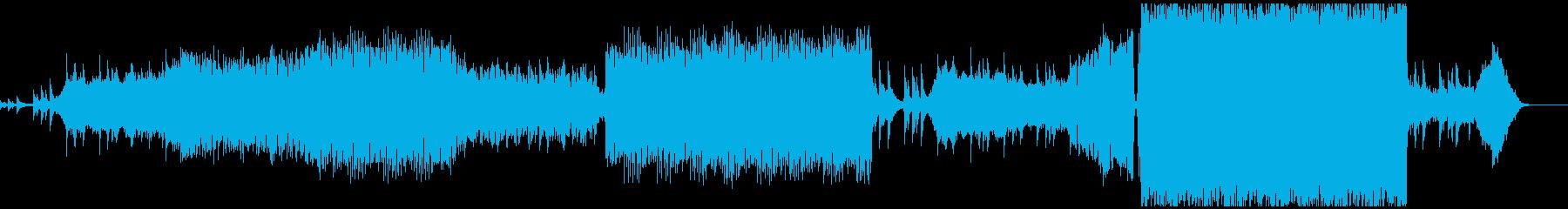 綺麗だけど少し暗めなプログレッシブハウスの再生済みの波形