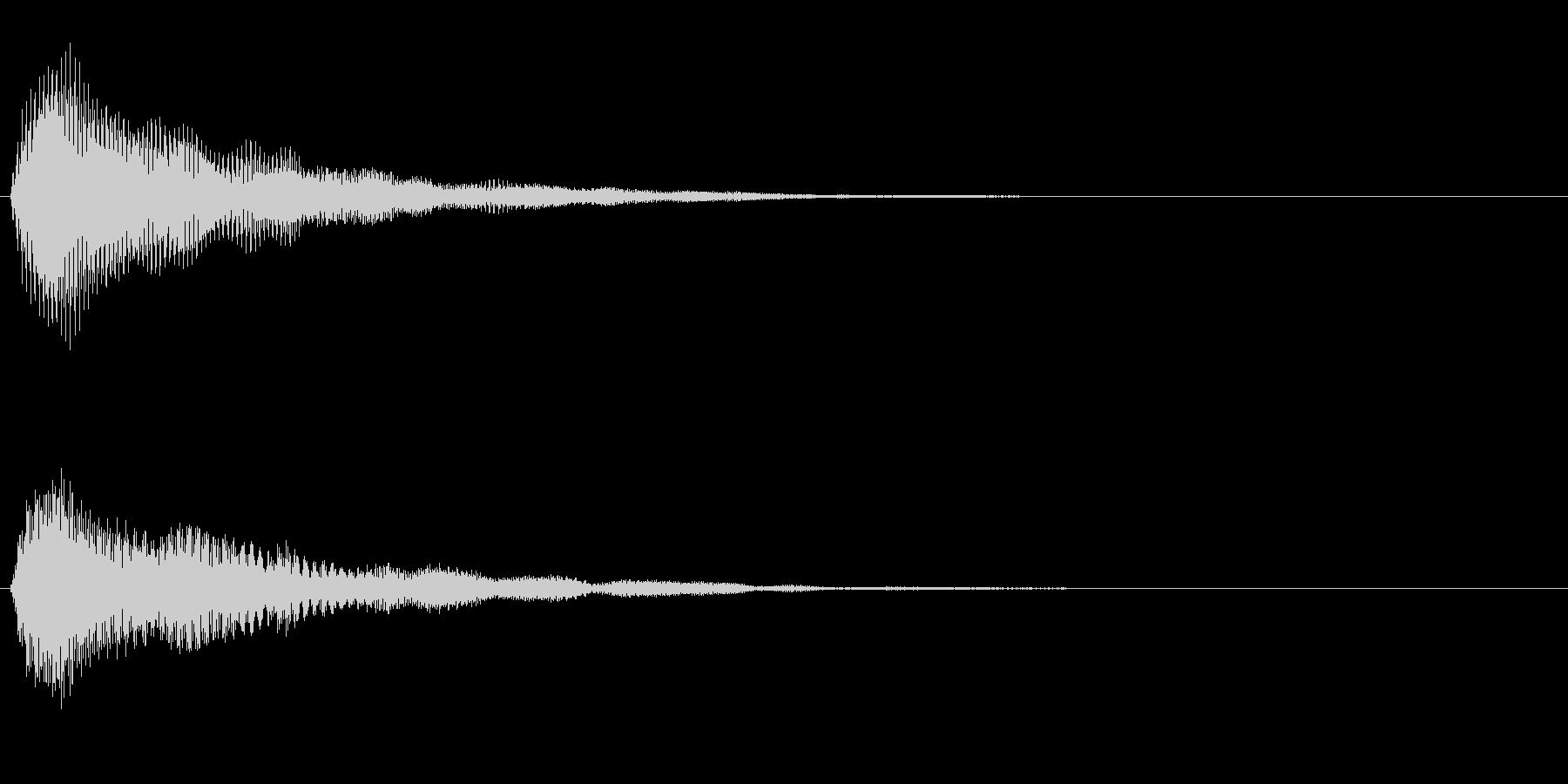 ふわっと光るような決定音/シンセサイザーの未再生の波形