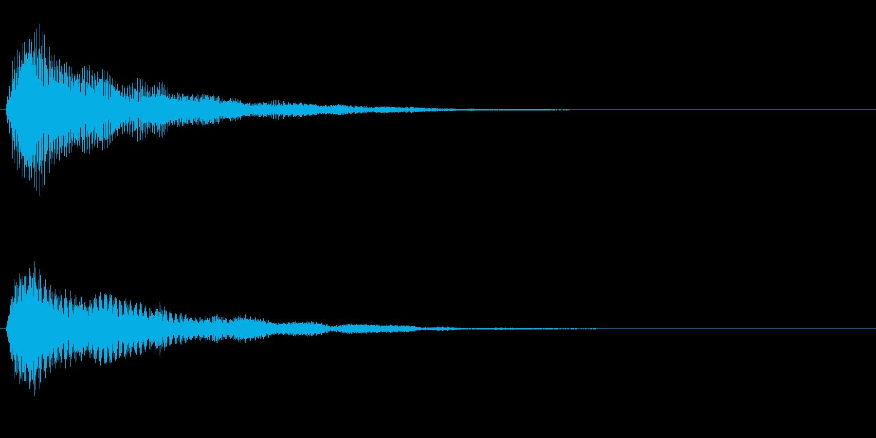 ふわっと光るような決定音/シンセサイザーの再生済みの波形