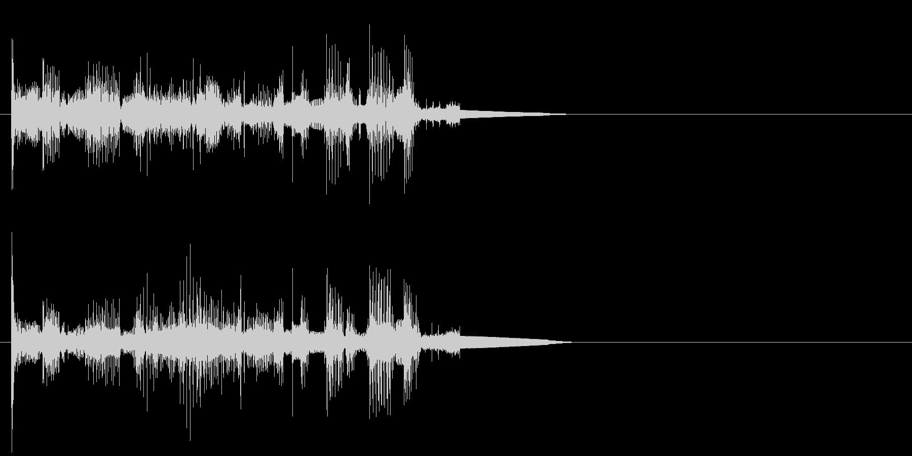 ロボットの音声 3の未再生の波形