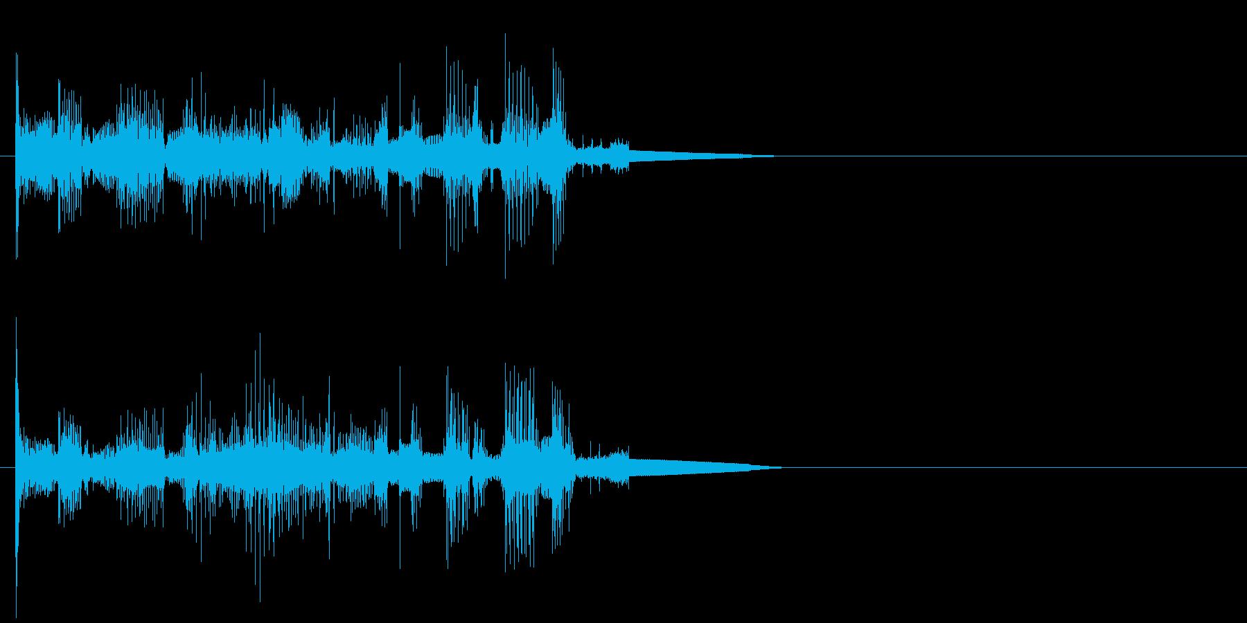 ロボットの音声 3の再生済みの波形