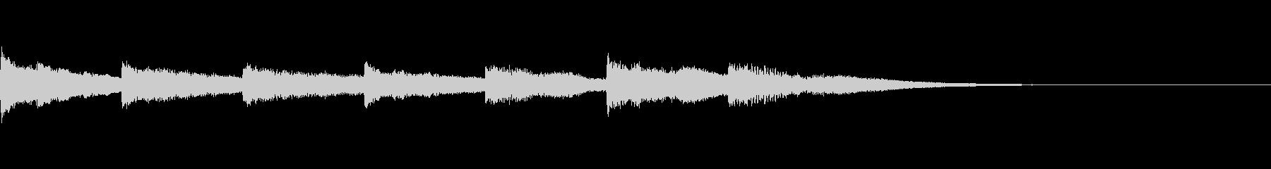 優しいチャイム風サウンドロゴの未再生の波形