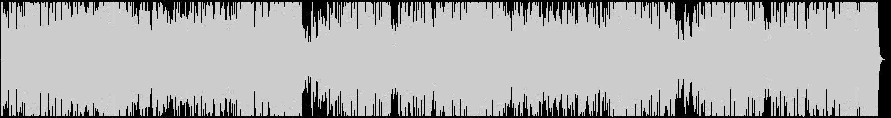 フュージョン風ステージセレクト画面の未再生の波形