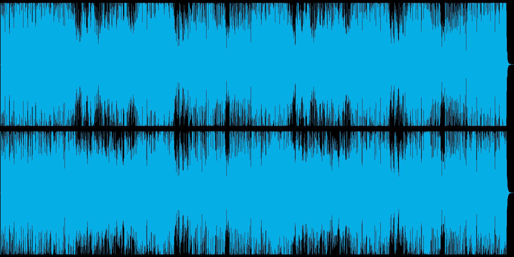 フュージョン風ステージセレクト画面の再生済みの波形