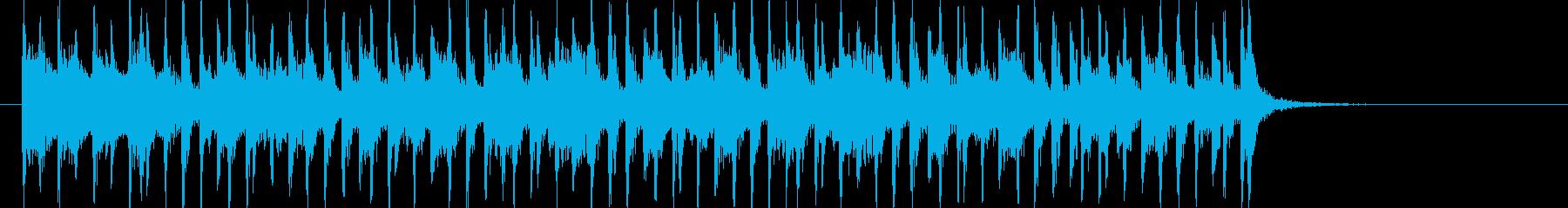 ワクワクする明るいポップの再生済みの波形