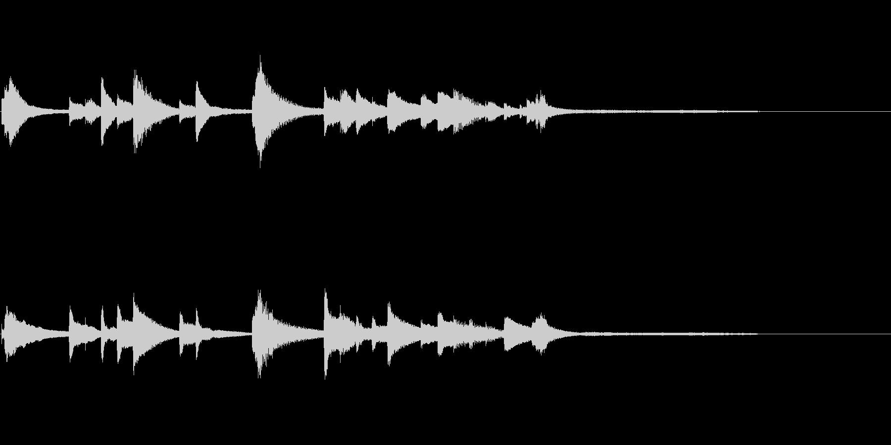 場面転換に適したピアノソロ曲の未再生の波形
