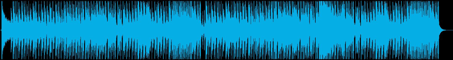 ノリの良いジャズ風味のハロウィン楽曲の再生済みの波形