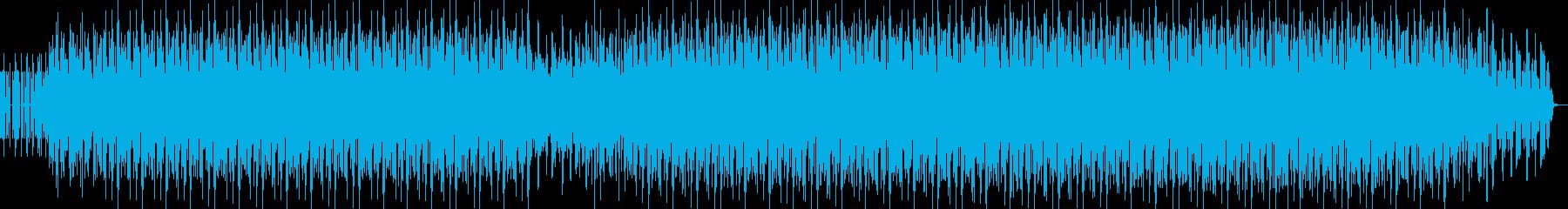のんびりと楽しげなミニマルテクノの再生済みの波形
