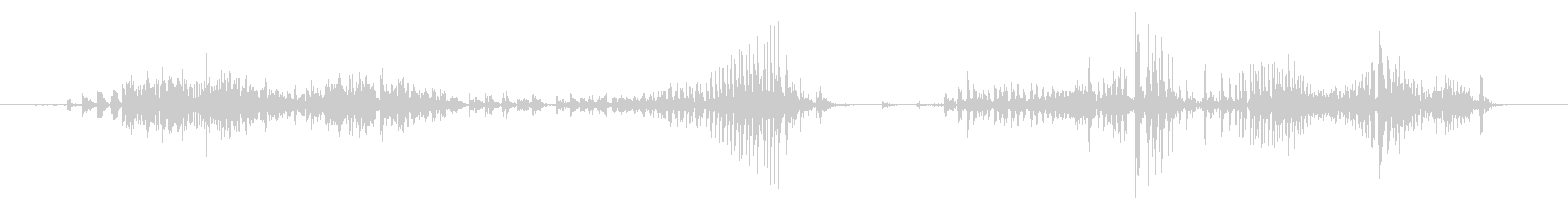 ジー(ポーチのジッパー閉じる音)の未再生の波形