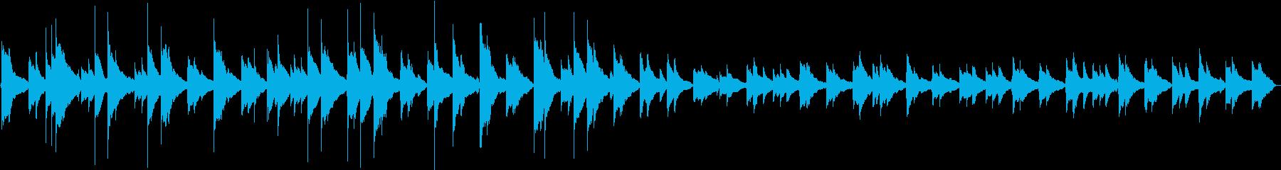 落ち着いたBGMの再生済みの波形