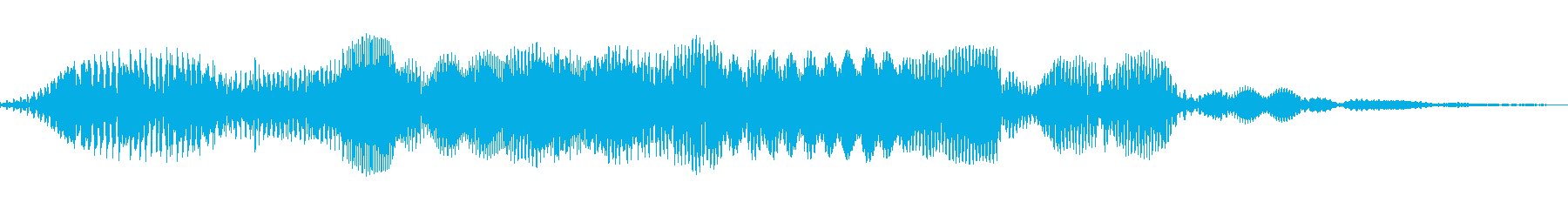 銀河ステップトーンスイープの再生済みの波形