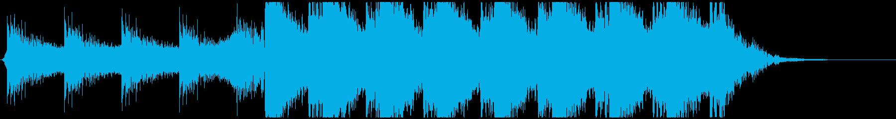 コーラスが壮大な映画予告編風オーケストラの再生済みの波形