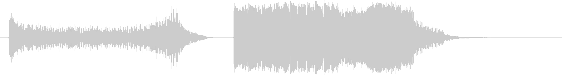 昔の歌番組で使われるランキングジングル2の未再生の波形