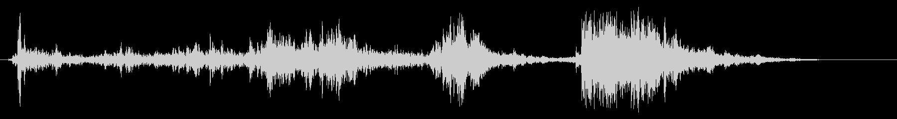 チャラチャラチャンとビンの蓋を開ける音の未再生の波形