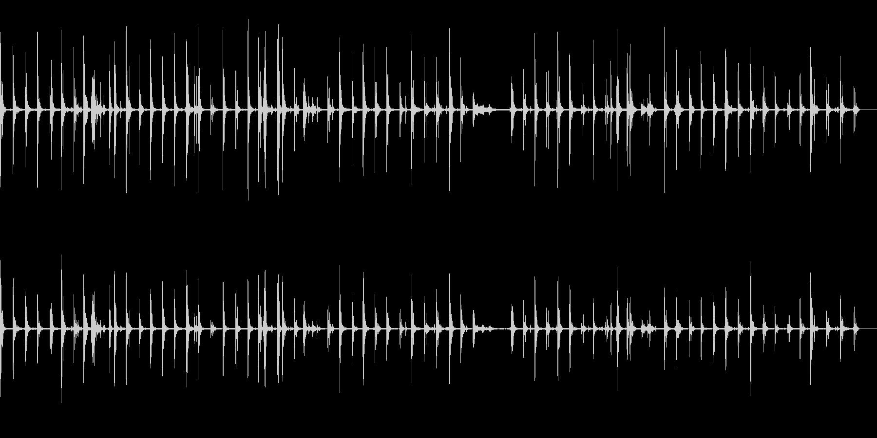 木製の床で一人歩き:SQUEAKY...の未再生の波形