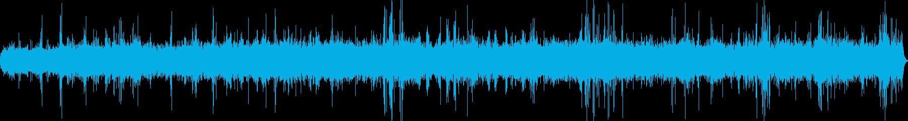 振子時計のモーター音をモチーフにした音楽の再生済みの波形