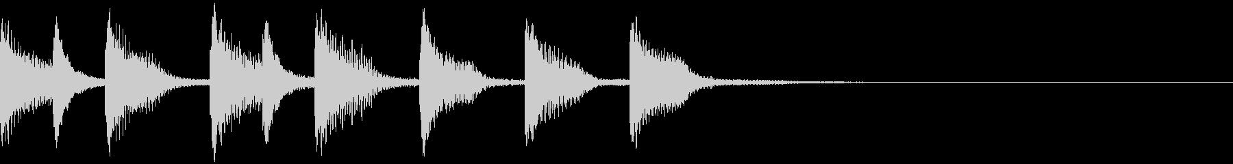 【ジングル】木琴・ほのぼの・日常の未再生の波形
