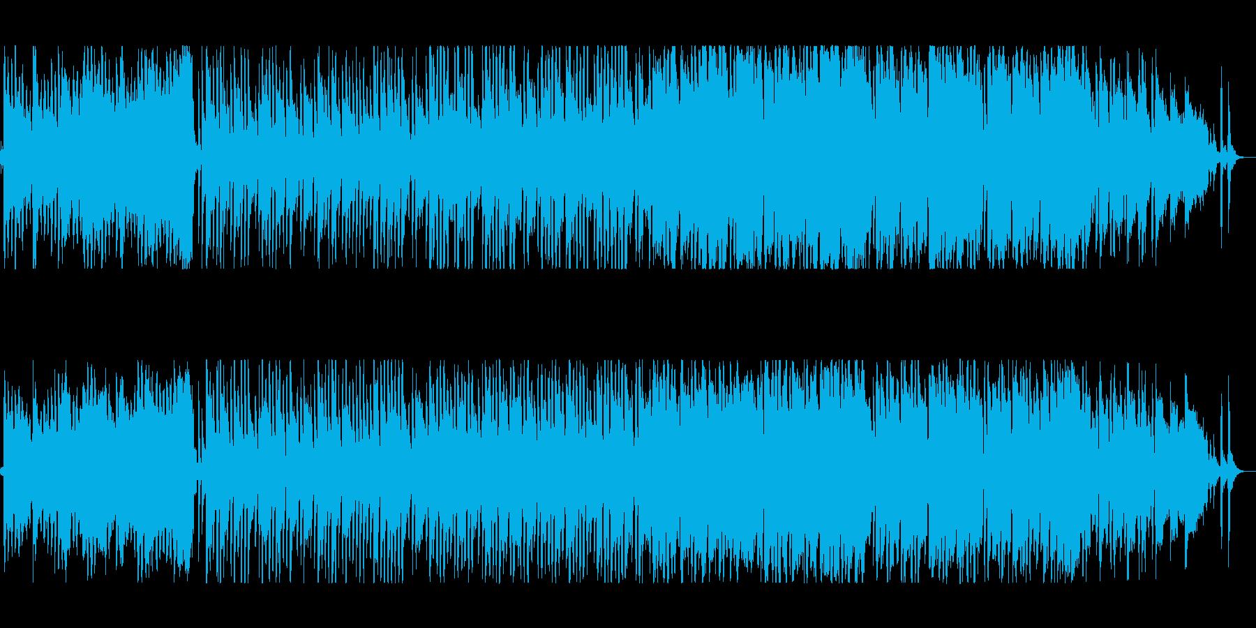 かわいらしいシンセサイザーミュージックの再生済みの波形