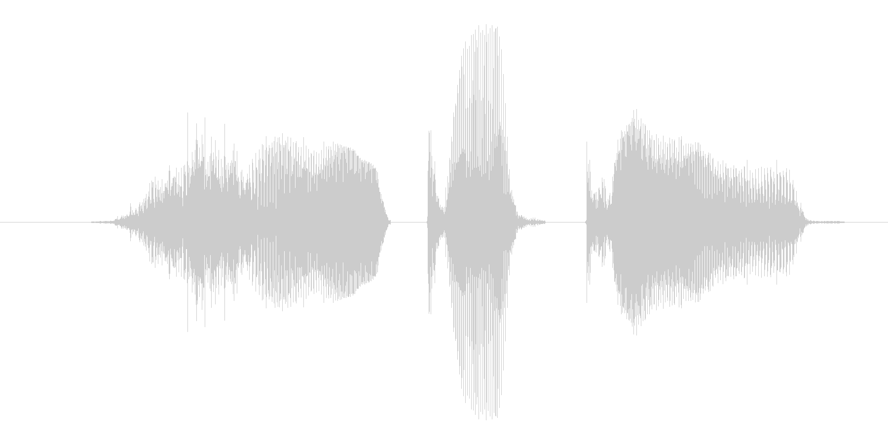 深呼吸の未再生の波形
