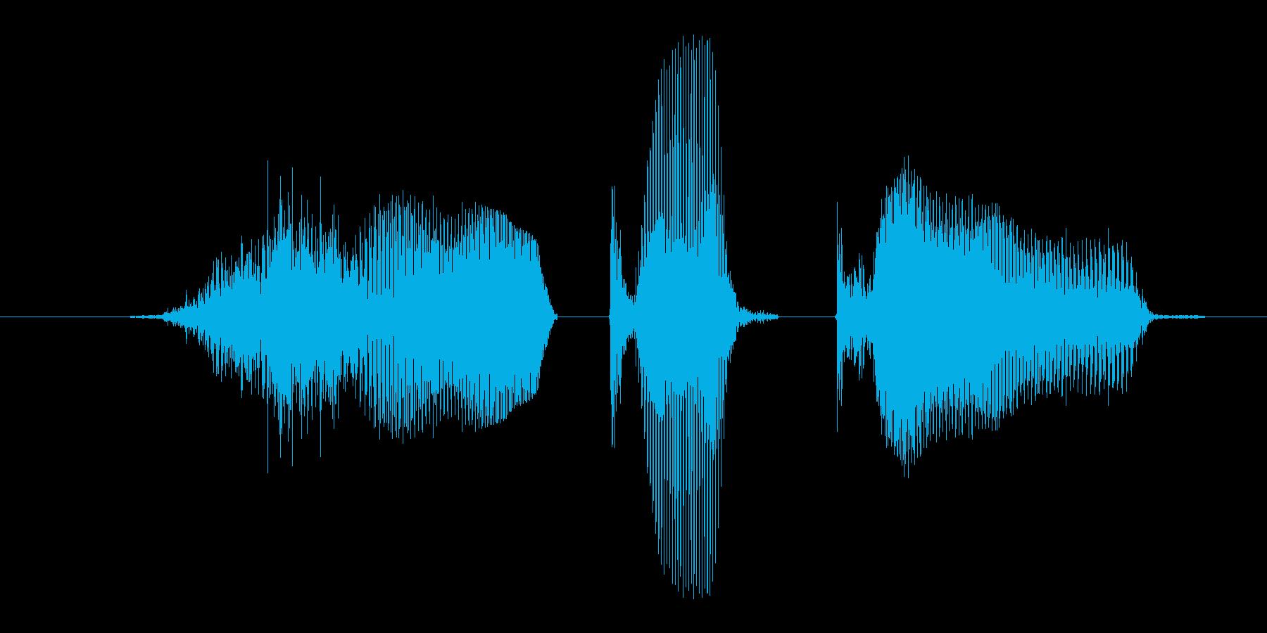 深呼吸の再生済みの波形