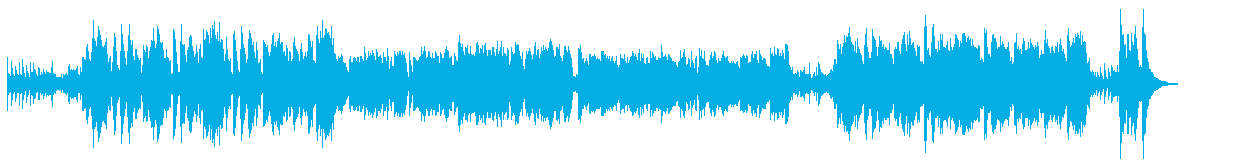 ハロウィンに合うコミカルホラーなBGMの再生済みの波形